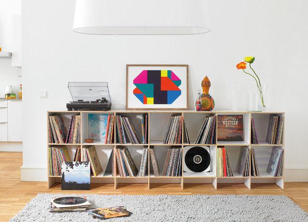 21 idee per esporre i vinili in modo stiloso e rock 39 n 39 roll - Mobile porta dischi vinile ...