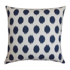 Faustine Ikat Floor Pillow Navy Blue