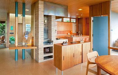 Houzzツアー:父から子へ、ミッドセンチュリーの名建築家の家を住み継ぐ、美しいリノベーション