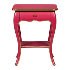 - Rose French Side Table - Nightstands and Bedside Tables