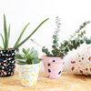 DIY : Les pots en terre cuite imitent le terrazzo