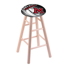 Maple Bar Stool Natural Finish With Miami Oh Seat 30-inch