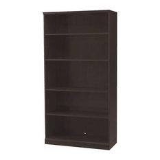 Storage Options 5-Shelf Bookcase Espresso