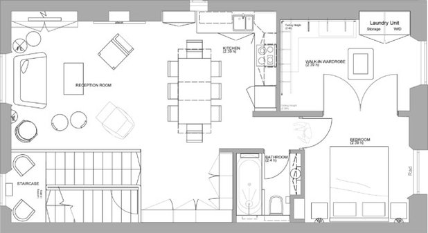 Transitional Floor Plan by Sigmar