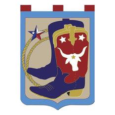 Cowboy Boots Applique Flag, Large