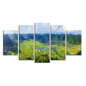 Rice Field Valley Vietnam Panorama Landscape Wall Art Contemporary Prints And Posters By Design Art Usa