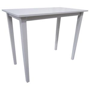 VidaXL Wooden Bar Table, White
