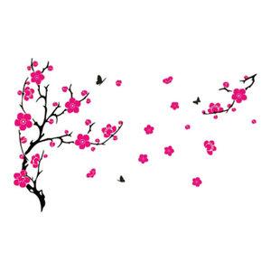 Large Plum Blossom Wall Sticker, Light Pink, 100x130 cm