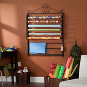 Leal Black Wrapping Paper and Craft Storage Rack