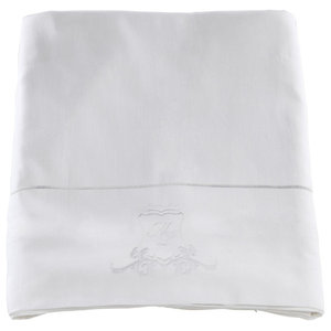 Pure White Sateen Flat Sheet Bedding Set, 255x270 cm