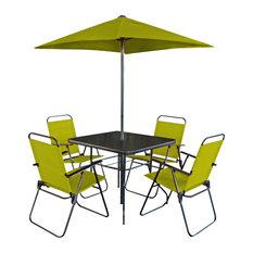 Patio Premier 6-Piece Patio Set, Square Table, Pepper Stem