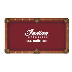 7' Indian Motorcycle, Script Pool Table Cloth by Covers by HBS