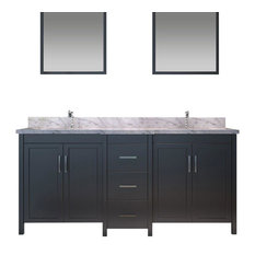 "Hollandale 73"" Double Sink Vanity Set in Black"