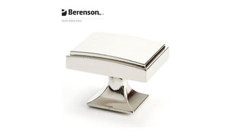 4142-1014-P  Polished Nickel Knob by Berenson Hardware