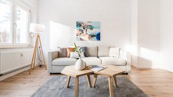 Home Staging einer Wohnung für den Verkauf - Wohnzimmer