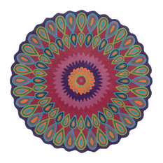 "Vibrance Rug, Multi, 7'9"" Round"
