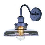 Maxim Mini Hi-Bay 1-Light Bronze Mirror Smoke Glass Wall Light