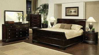 Abbyson Living 4-piece Sleigh California King-size Bedroom Set