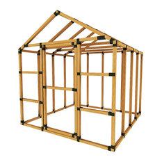 8ft W x 8ft D E-Z Frame Basic Storage Shed Kit