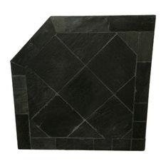 """54""""x54"""" Corner Pad, Black Slate Stone"""