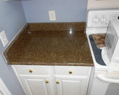 Brown And White Granite : Desert brown granite with white cabinets roselawnlutheran