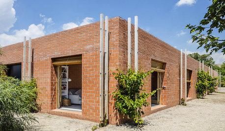 Una casa sin puertas y con 10 espacios de idéntico tamaño