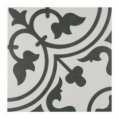 """SomerTile 9.75""""x9.75"""" Arte Porcelain Floor and Wall Tile, Case of 16, White"""