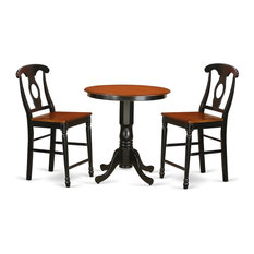 3-Piece Dining Counter Height Set Pub Table And 2 Dining Chairs