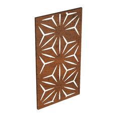 Alta Corten Steel Decorative Screen Panel, Star