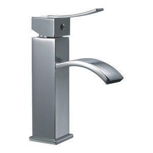 Dawn Single-Lever Square Faucet, Chrome, Pull-Up Drain With Lift Rod