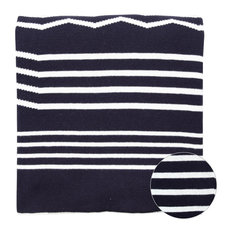 Grover Modern Black and White Knitted Throw