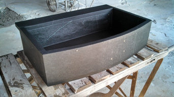 Slab built sinks