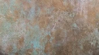 Venetian Plaster Copper Finish