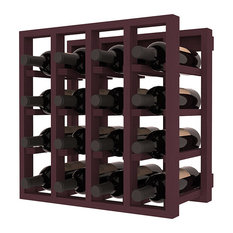 Wine Racks America Lattice Stacking Wine Cubicle, Ponderosa Pine, Burgundy