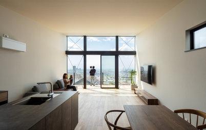 圧倒的な眺望が室内と一体化する神戸の家