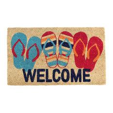 DEI   Flip Flop Welcome Mat   Doormats