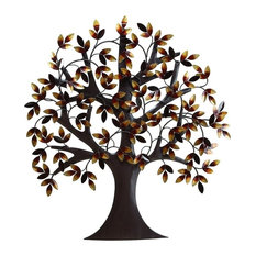 Benzara, Woodland Imprts, The Urban Port   Metal Tree Wall Decor   Metal  Wall