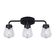 "Canarm IVL682A03 Lochlan 3 Light 25""W Bathroom Vanity Light - Black"