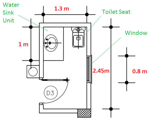 Need Help For My Small Guest Bathroom Layout Plan