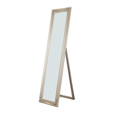 Bay - Isla Wooden Full Length Mirror, Champagne - Floor Mirrors