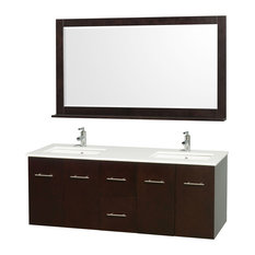 Modern Double Bathroom Vanity Set