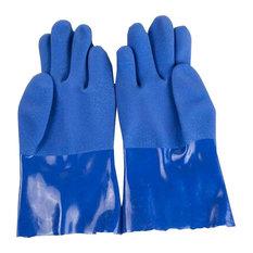Average Size, PVC, Men, Outdoor, Working, Waterproof Gloves