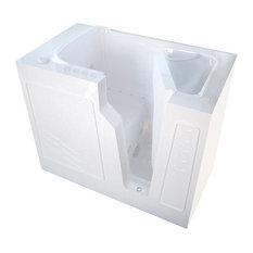 MediTub Walk-In 26 x 46 Right Drain White Whirlpool & Air Jetted Walk-In Bathtub