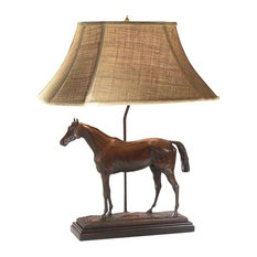 Thoroughbred Horse Lamp, Fabric Linen