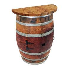 Central Coast Creations - Wine Barrel Wall Wine Bar, Wine Barrel Stave Top - Wine Racks