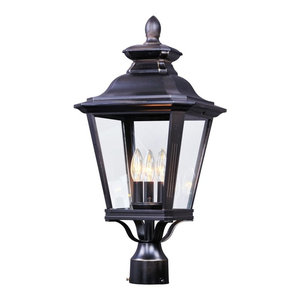 3 Light Pole Lantern Traditional Post Lights By