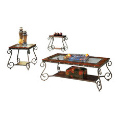 Steve Silver Company - Steve Silver Company Ellery 3 Piece Coffee Table Set in Cherry -  sc 1 st  Houzz & Most Popular Victorian Coffee Table Sets   Houzz