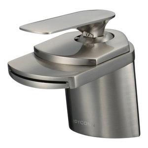 """Marble 4"""" Waterfall Brushed Nickel Bathroom Sink Faucet"""
