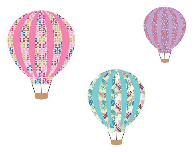 Hot air balloon stickers hot air balloon wall decals hot air balloon nursery