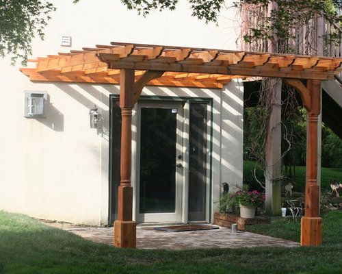SaveEmail - Wall-Mounted Pergola Design Ideas & Remodel Pictures Houzz